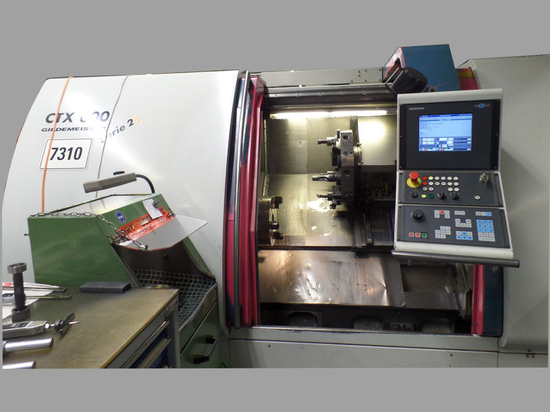 used CNC Lathe GILDEMEISTER CTX 600 Serie 2 is suitable for turning of chuck and shaft parts